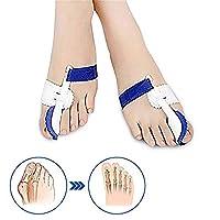外反母趾のサポート 女性と男性のための修正スプリントスリーブとクッションサポートを含むつま先セパレータ。 夜間使用のための整形外科調整可能なストレートワイププロテクターパッドの1組 足の内側の痛みや腱膜を和らげる
