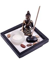 Thy Collectibles Asian Japanese Feng Shui砂Zen Garden Buddha Tealight & Incense Holder yd50