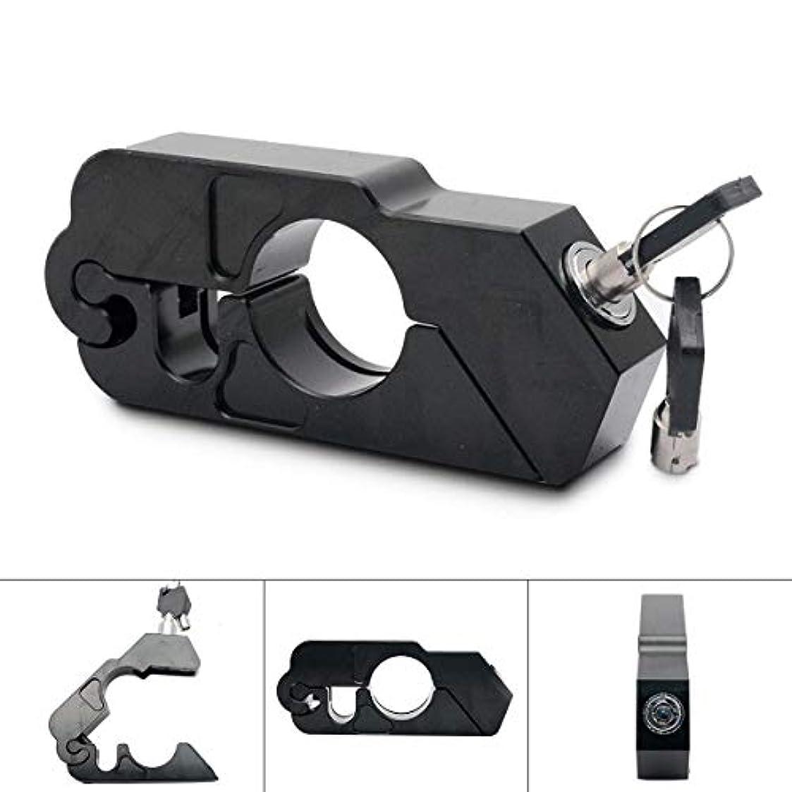 違法バット期限切れオートバイグリップロック - 自転車、スクーター、モペットまたはATVを固定する2つのキーを備えたユニバーサルアルミCNCオートバイハンドルのスロットルグリップセキュリティロック 盗難防止 アクセルロック- ブラック
