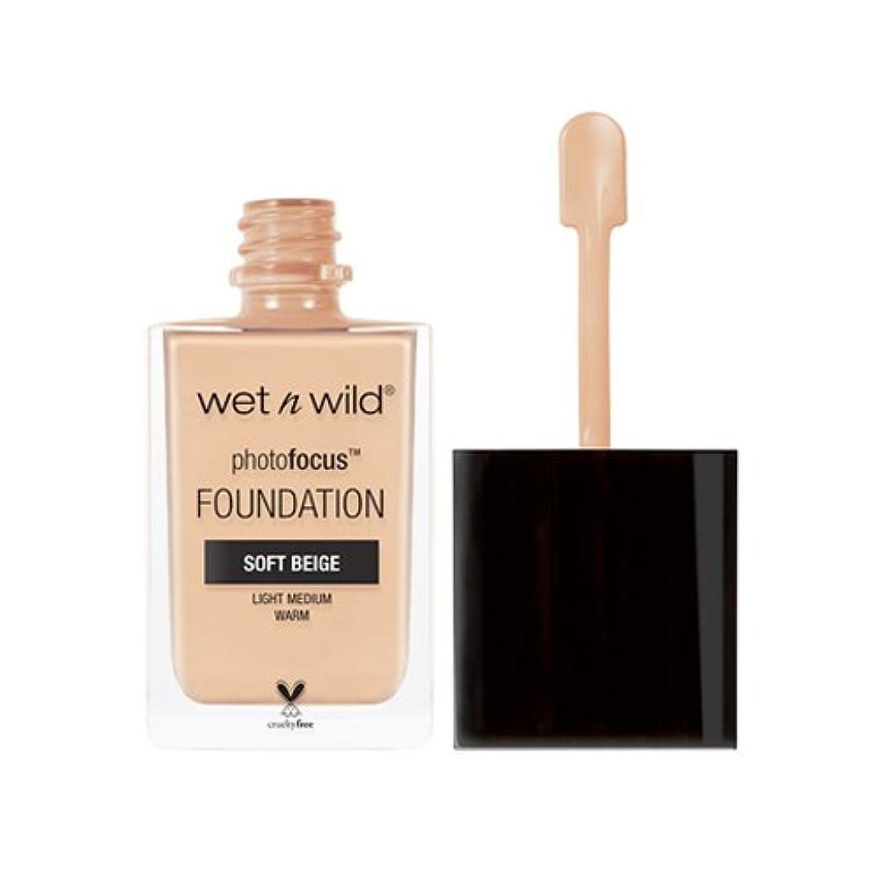 寝室真実矢印(6 Pack) WET N WILD Photo Focus Foundation - Soft Beige (並行輸入品)
