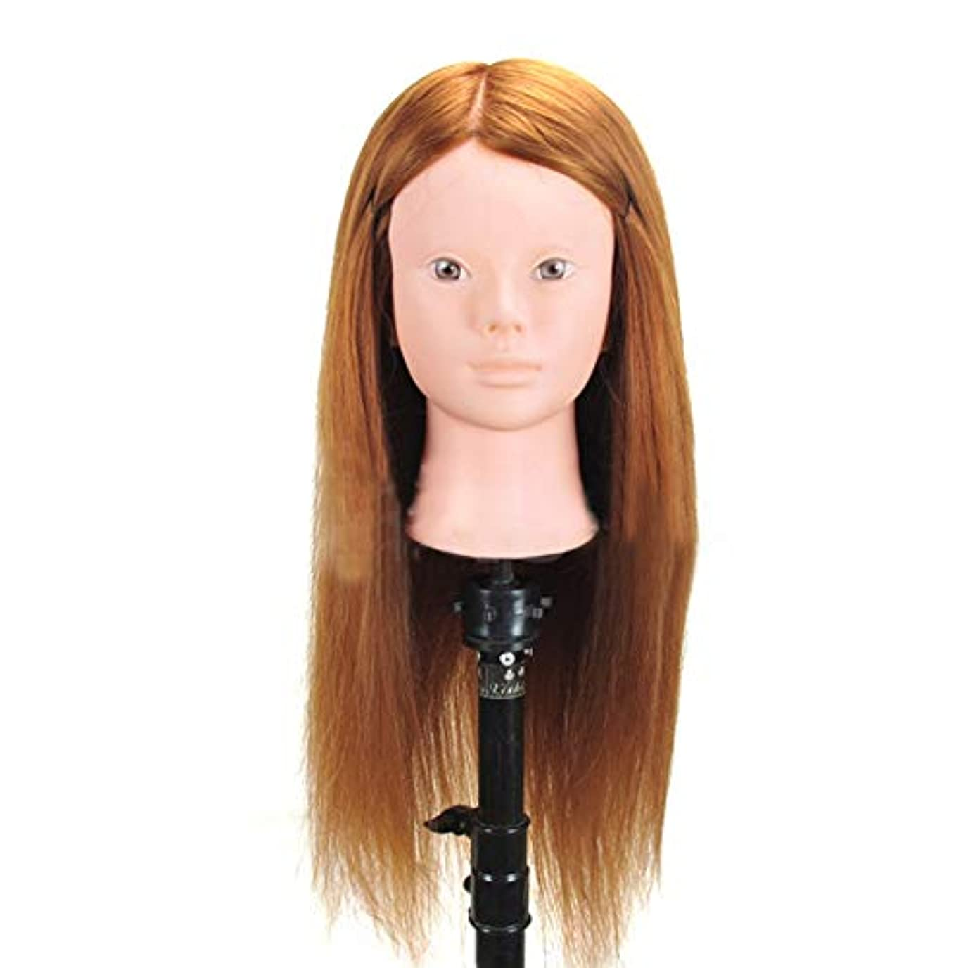 構想するスツール霊高温シルクヘアマネキンヘッド編組ヘアヘアピンヘッドモデルサロンパーマ髪染め学習ダミーヘッド