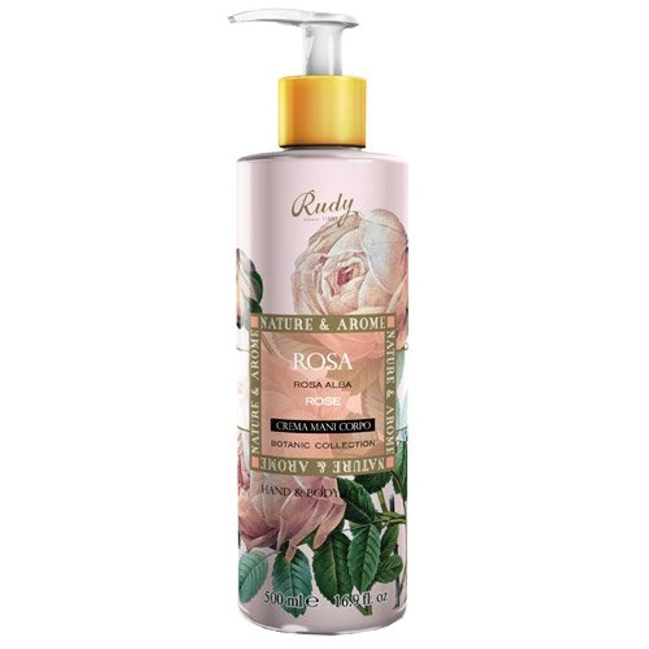 敏感な良い倍増RUDY Nature&Arome SERIES ルディ ナチュール&アロマ Hand&Body lotion ハンド&ボディローション ローズ