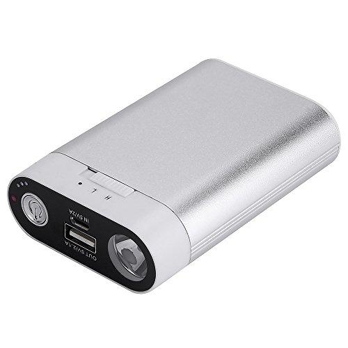 電気カイロ Alfway ハンドウォーマー 充電式カイロ/7800mAhモバイルバッテリー 両面急速...
