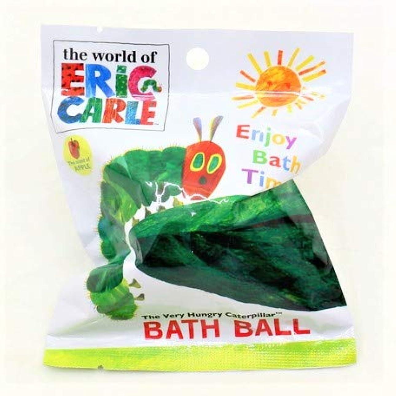 親粉砕する広範囲はらぺこあおむし バスボール 入浴剤 りんごの香り 6個入1セット