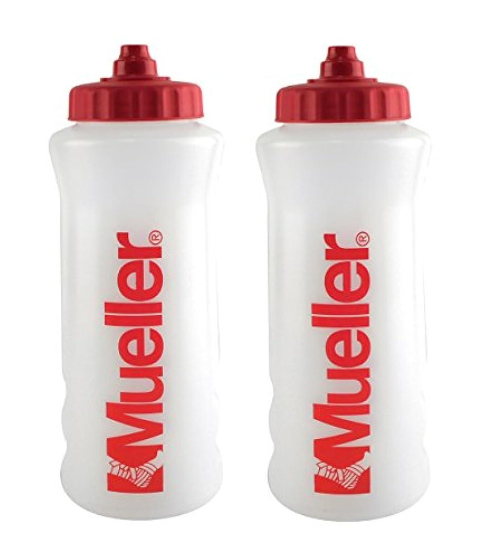 傾く険しい記念品Mueller QuartボトルW / Sureshot Squeeze (新しいデザイン、ナチュラルカラーW /レッドLetters