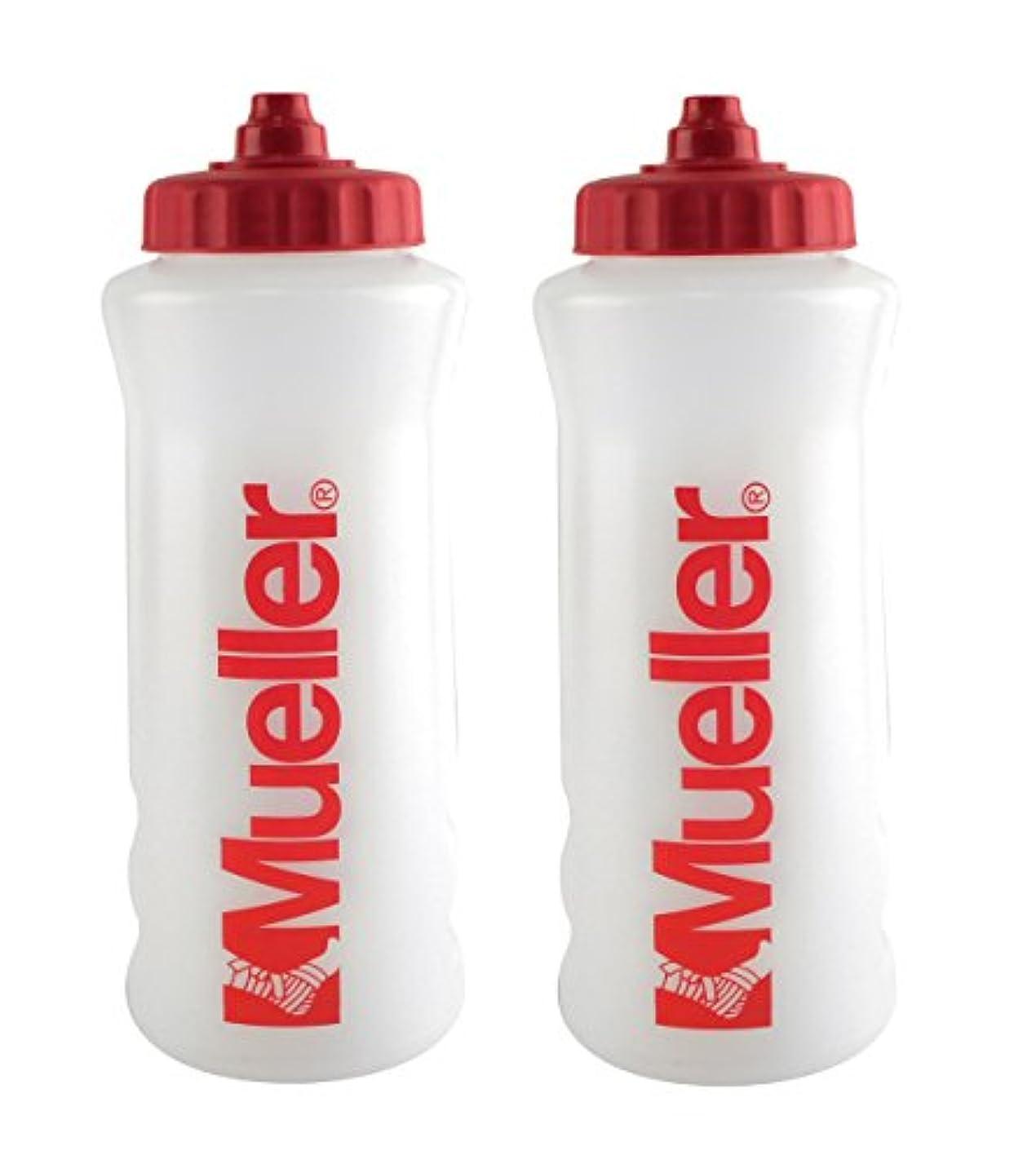 ブラウザ欠員フロンティアMueller QuartボトルW / Sureshot Squeeze (新しいデザイン、ナチュラルカラーW /レッドLetters