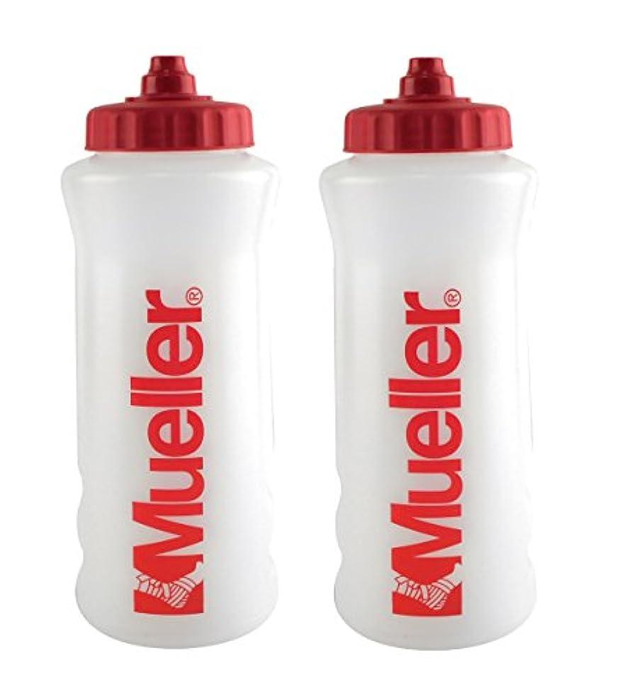 荒野報奨金寛容なMueller QuartボトルW / Sureshot Squeeze (新しいデザイン、ナチュラルカラーW /レッドLetters