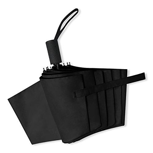 自動開閉折りたたみ傘 Araretyan 折り畳み傘 自動開閉式 UVカット99.% 超遮光 晴雨兼用傘 ワンタッチボタン おしゃれ 軽量 自動開閉折りたたみ傘 (ブラック)