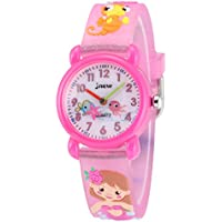Jewtme Kids Time Teacher Watches 3D Cute Cartoon Silicone Children Toddler Wrist Watches Gift for 3-7 Year Old Boys Girls Little Child