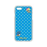 サンエックス iPhone8 ケース ハードケース (249) アフロ犬 テキスタイル スタードット ブルー SXH-4017-blu/iPhone8