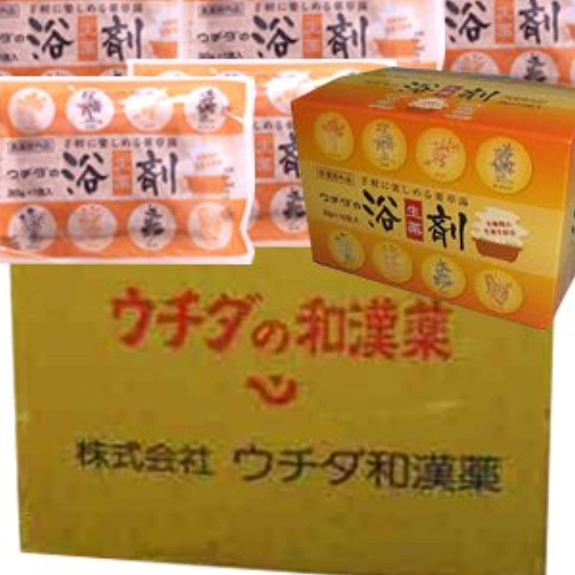 ペースト裏切りディレクトリ【12個1ケース】 ウチダの浴剤 30g×10袋入×12個+6袋 (4987359400025)