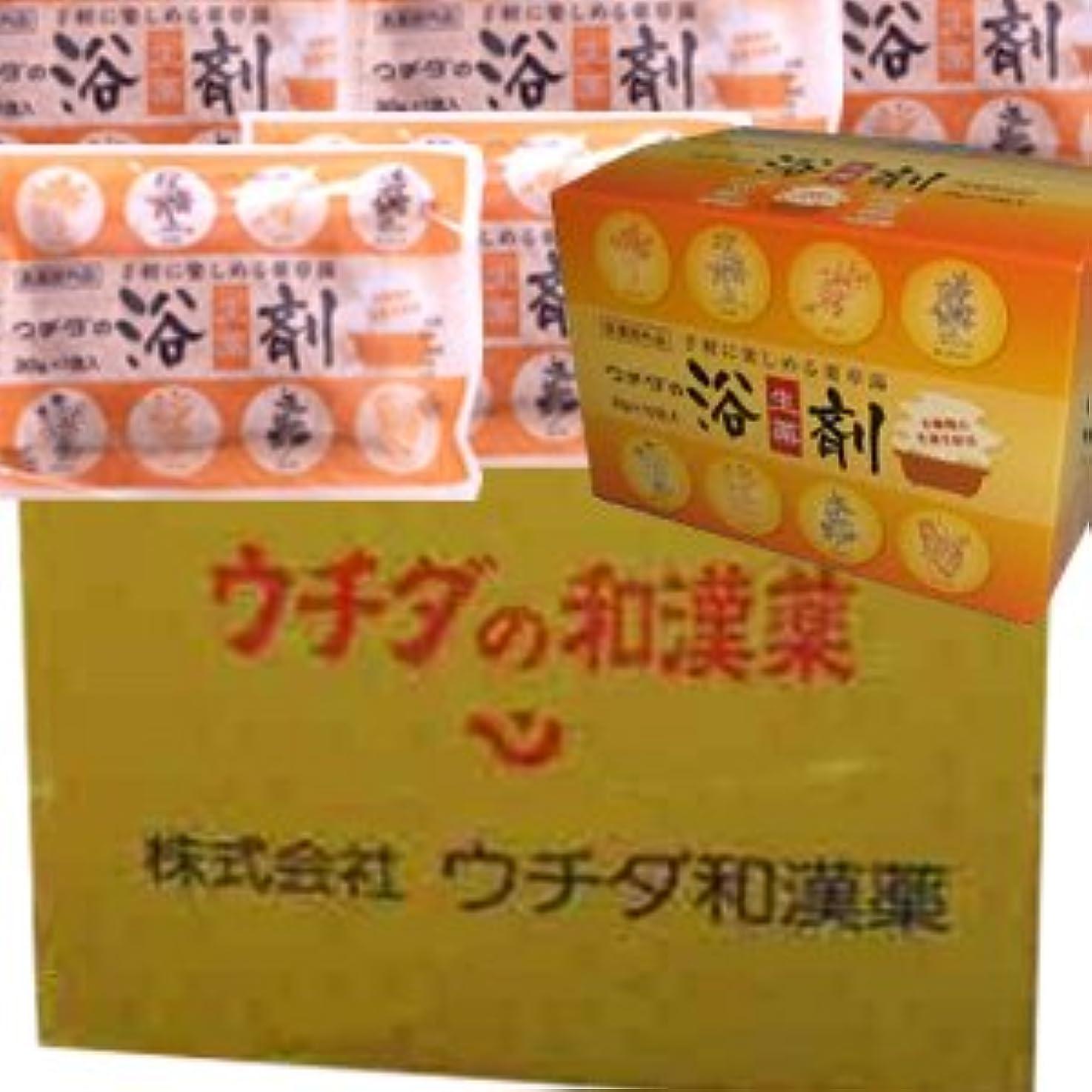 勇者不機嫌毎月【12個1ケース】 ウチダの浴剤 30g×10袋入×12個+6袋 (4987359400025)