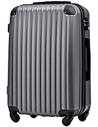 [トラベルハウス] Travelhouse スーツケース 超軽量 TSAロック搭載 機内持込み 国際的 半鏡面 人気色 ファスナータイプ 【一年安心保証】(25色4サイズ対応)春の色:抹茶グリーン登場!