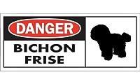 DANGER BICHON FRISE ワイドマグネットサイン:ビションフリーゼ Mサイズ