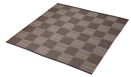 イケヒコ ラグ カーペット PPカーペット ポリプロピレンカーペット 洗える (洗濯機不可) 6畳 『ウィード』 ブラウン 江戸間6畳 (約261×352cm)