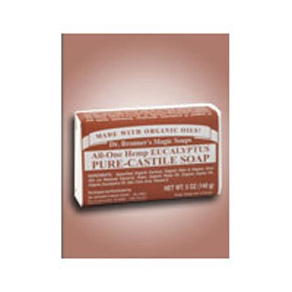 通訳咽頭阻害するドクターブロナー Dr.Bronner マジックソープ バー (固形石鹸) 140g ユーカリ