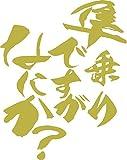 ノーブランド品 隼乗りですがなにか?(スズキ・SUZUKI)(2枚1セット) 約120mm×約95mm ゴールド(半ツヤ)