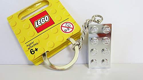 【グッズ-レゴショップ・クリックブリック限定】 851406 レゴ クラシック 銀色(シルバー)ブロック キーチェーン(キーリング) 2016年版