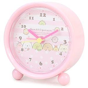 すみっコぐらし 目覚まし時計 ラウンドアラームクロック ピンク