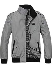 maweisong メンズカジュアルライトプラスサイズジッパーウィンドブレーカーボンバージャケット