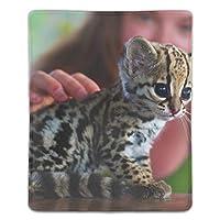 ゲーミング向け 大型マウスパッド デスクマット猫オセロット動物動物の赤ちゃん 防水材質 水で洗えるマウスパッド