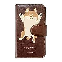 【moimoikka】 iPhone11 Pro Max アイフォン11プロマックス 手帳型 スマホ ケース hug me 柴犬(大) しば 犬 アニマル 動物 キャラクター おしゃれ かわいい (カバー色ブラウン) ダイアリータイプ 横開き カード収納 フリップ カバー スマートフォン モイモイッカ sslink
