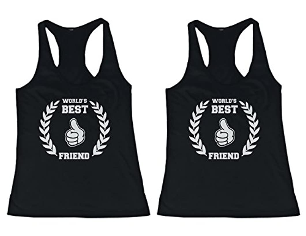 行列あらゆる種類の怪しい365 Printing BFF Tank Tops World's Best Friend Matching Shirts for Best Friends