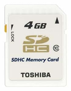 TOSHIBA SDHCメモリカード Class10 4GB SD-FX004G