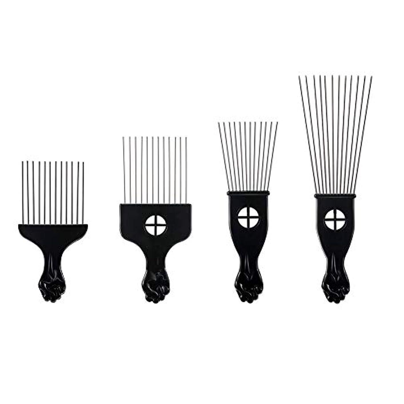 占める大気杭プラスチックフォークスチール針櫛歯4毛櫛ヘアピン挿入ツールの櫛髪