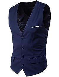 GOMY スーツベスト メンズ ジレ 黒 抗シワ 洗える ウエスト調整ベルト付き 紺 単列 四つボタン スリム M-5XL