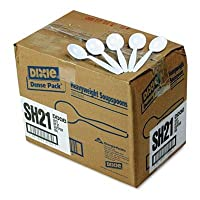 Dixie - Plastic Cutlery Heavyweight Soup Spoons White 1000/Carton Product Category: Breakroom And Janitorial/Food Service Supplies by Dixie
