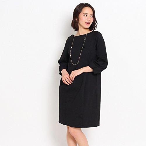 (クチュールブローチ) Couture Brooch 【WEB限定・80%OFF】バックリボンポンチワンピース 50852201 38(M) ブラック(019)