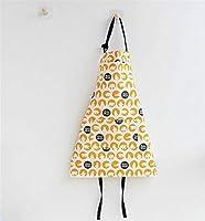 エプロン 人気 親子エプロン - キッズのコットンエプロン女の子のプリントフローラルエプロンポケット付き(オレンジ)