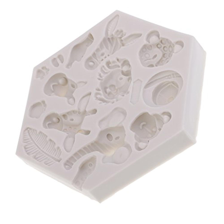 Fityle シリコーンモールド 動物の形 手芸 DIY用品 ケーキ装飾 ケーキベーキング