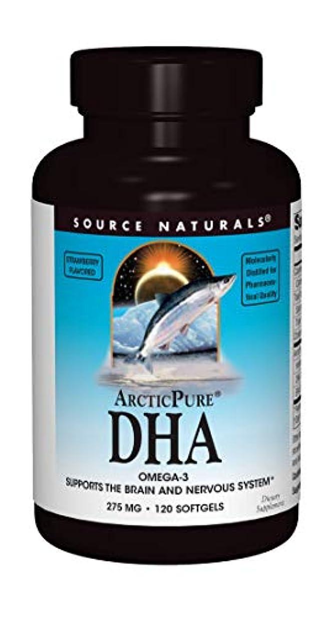 植物の告白するミリメートル海外直送品 Source Naturals Arcticpure Dha, (strawberry) 120 Sftgls 250 mg