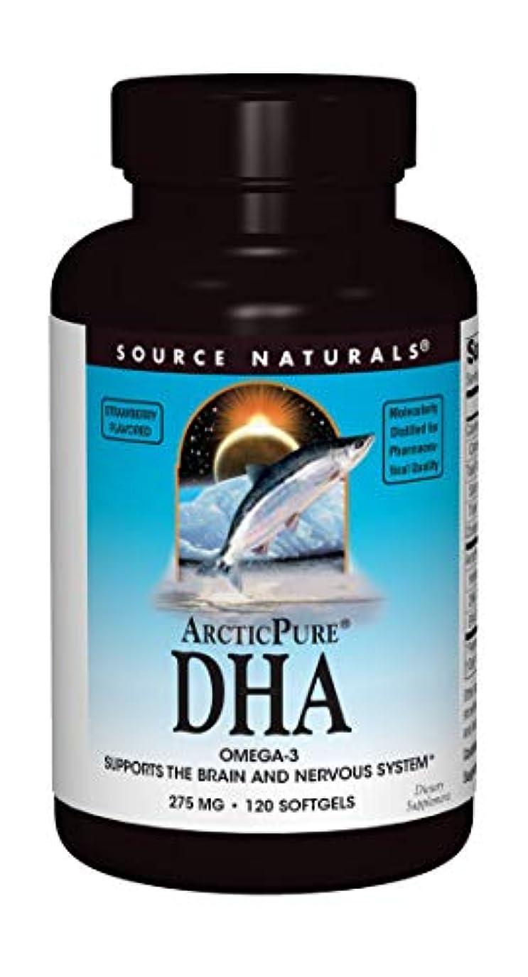 スキーぜいたく傑作海外直送品 Source Naturals Arcticpure Dha, (strawberry) 120 Sftgls 250 mg