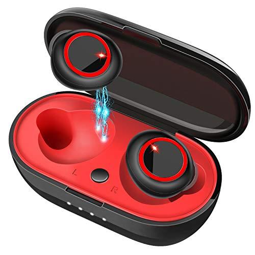 2019最新版 5.0 Bluetooth イヤホン 自動ON/OFF 自動ペアリング IPX5防水 完全ワイヤレス イヤホン ブルートゥース イヤホン 両耳/片耳とも対応 マイク内蔵 iPhone/Android対応 一回フル充電8-9時間連続再生