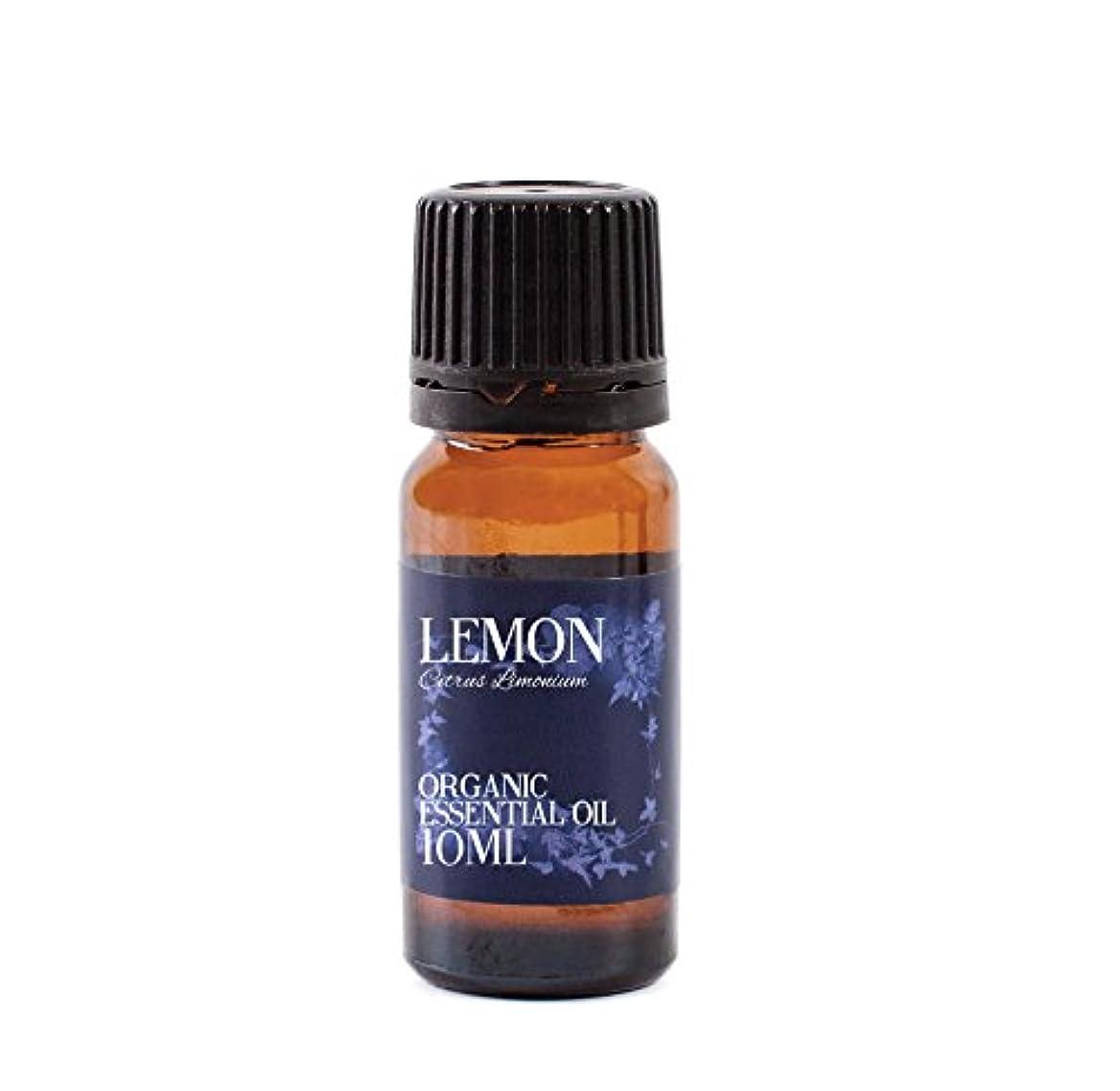 非公式明るくする一時的Mystic Moments   Lemon Organic Essential Oil - 10ml - 100% Pure