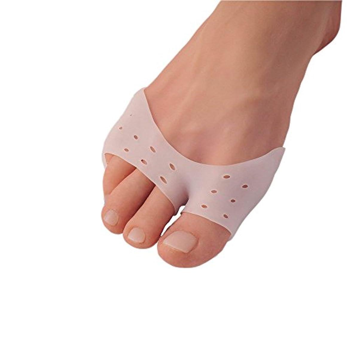 講師悪用毎年5ペア多機能シリカゲルサッカーやバレエつま先スリーブ前足パッドの母趾補正正靴下つま先セパレータ足のケア