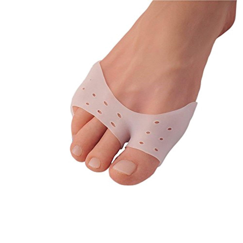 増幅器変更バター5ペア多機能シリカゲルサッカーやバレエつま先スリーブ前足パッドの母趾補正正靴下つま先セパレータ足のケア