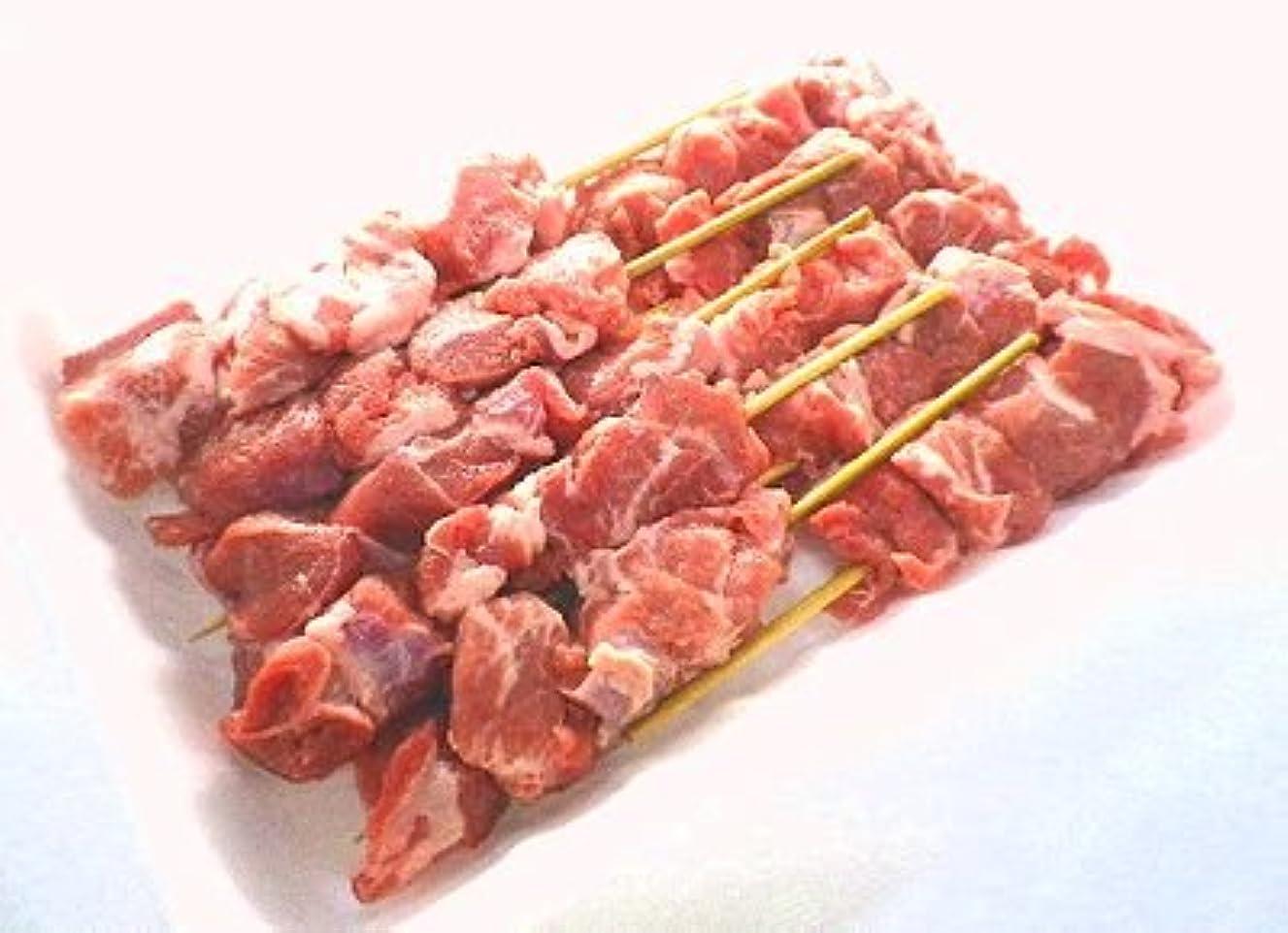 韓国語人類幻影【焼鳥】国産手作り 豚カシラ串 10本 40g 冷蔵品