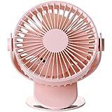 Mayalina クリップファンUsbデスクトップミニファン充電ポータブルデスクトップデュアルユースオフィス小型ファン空気循環ファンターボチャージャールームファンそのベッドの上でクリップ (色 : ピンク)