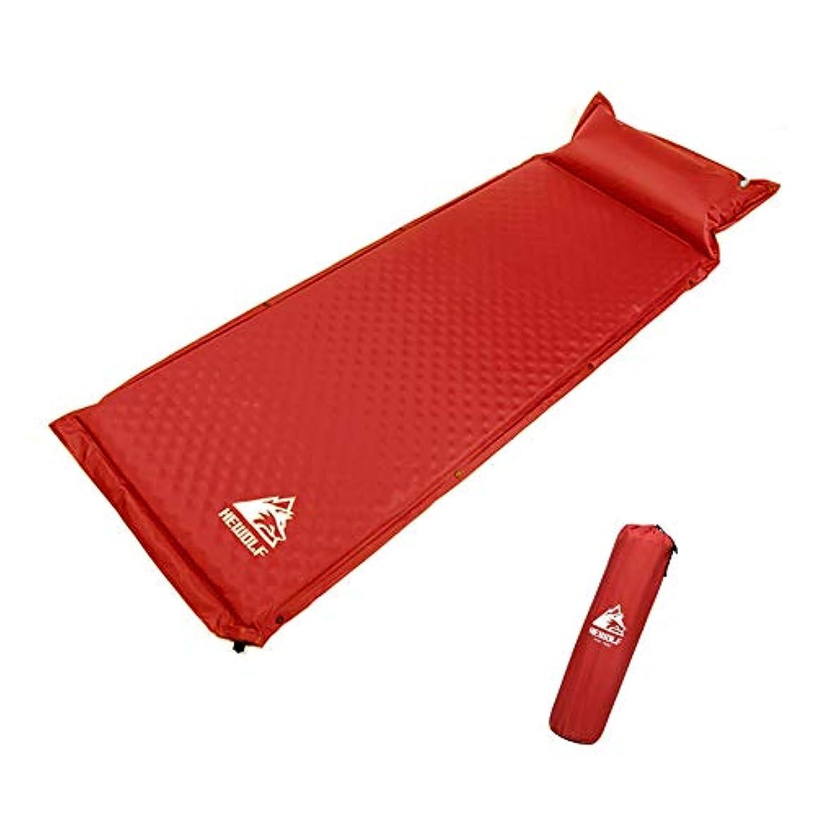 あなたは艶シーフードエアーマット, 超軽量型 キャンピングマット 枕付き 自動インフレータブルパッド 折りたたみシングルベッドポータブルエアパッド 防災用品 山登り テント泊