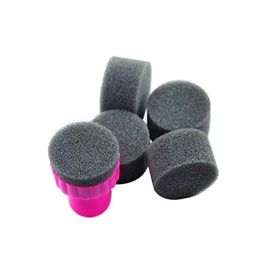 フォームステープルどこにも5柔らかいスポンジシール型フェージング美容ネイル用品
