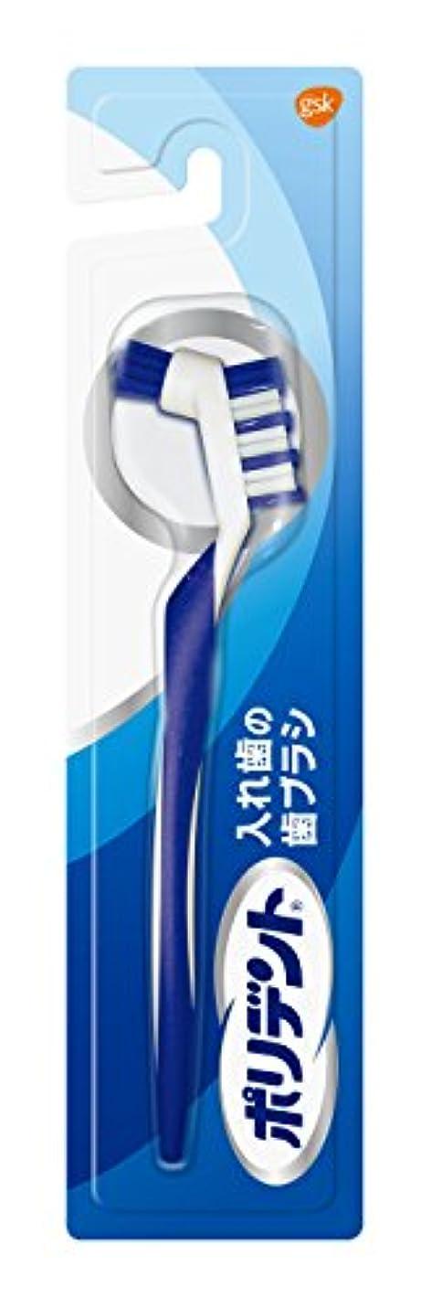 はねかけるメロドラマティック早めるポリデント入れ歯の歯ブラシ 1本