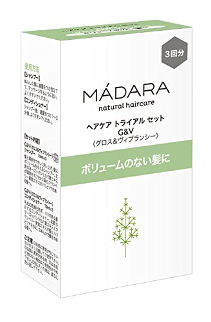 食物宣伝線形マダラ ヘアケアトライアルセット(グロス&ヴィブランシー)