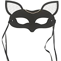 skyllc ハーフフェイスアニマルマスクフォックスシェイプマスクとメス耳コスプレ衣装ハロウィンクリスマスパーティーアクセサリー