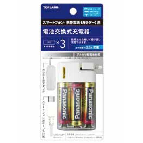 電池交換充電器3本