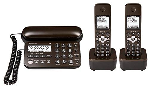 パイオニア デジタルコードレス留守番電話機 子機2台 ダークブラウン TF-SD15W-TD 1個
