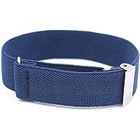 QGT Belt One Pair Elastic Adjustable Non-Slip Straps Armband, Size: 35 x 2.5cm(Navy) (Color : Navy)